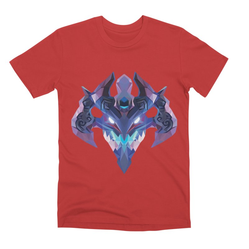 Low Poly Art - Visage Men's Premium T-Shirt by lowpolyart's Artist Shop