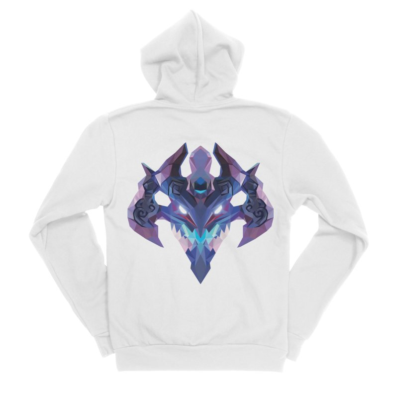 Low Poly Art - Visage Women's Sponge Fleece Zip-Up Hoody by lowpolyart's Artist Shop