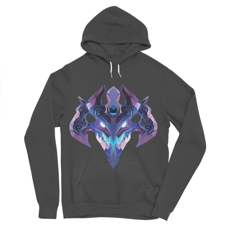Low Poly Art - Visage Women's Sponge Fleece Pullover Hoody by lowpolyart's Artist Shop