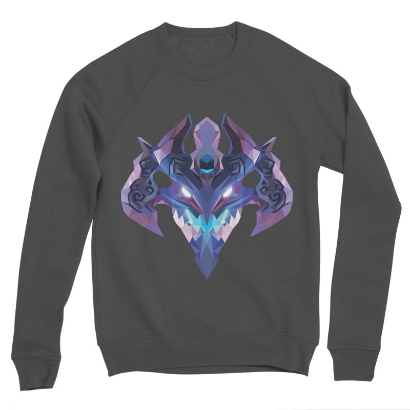 Low Poly Art - Visage Women's Sponge Fleece Sweatshirt by lowpolyart's Artist Shop