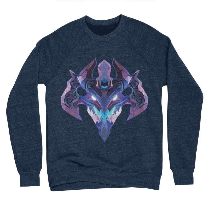 Low Poly Art - Visage Men's Sponge Fleece Sweatshirt by lowpolyart's Artist Shop
