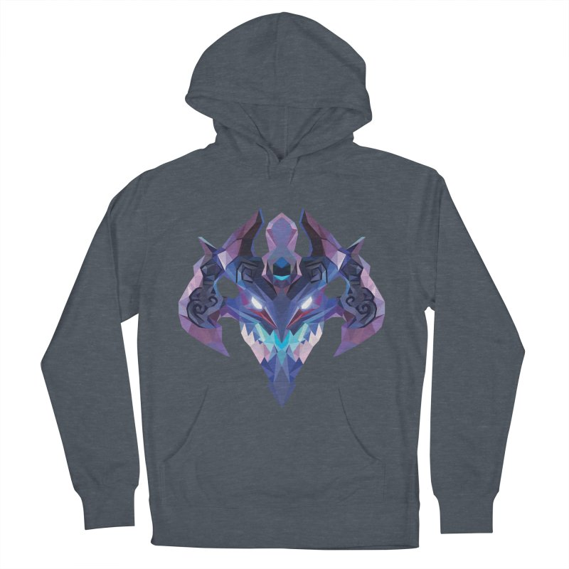 Low Poly Art - Visage Women's French Terry Pullover Hoody by lowpolyart's Artist Shop