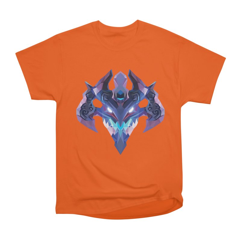 Low Poly Art - Visage Men's Heavyweight T-Shirt by lowpolyart's Artist Shop
