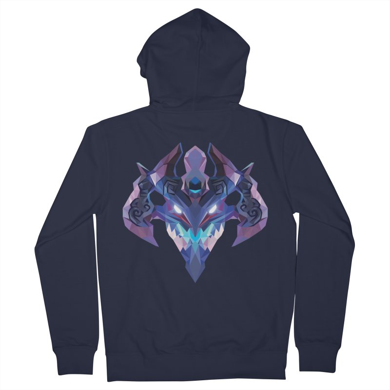 Low Poly Art - Visage Women's French Terry Zip-Up Hoody by lowpolyart's Artist Shop
