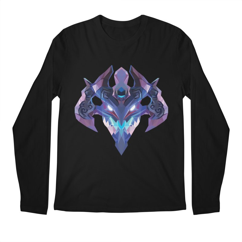 Low Poly Art - Visage Men's Regular Longsleeve T-Shirt by lowpolyart's Artist Shop