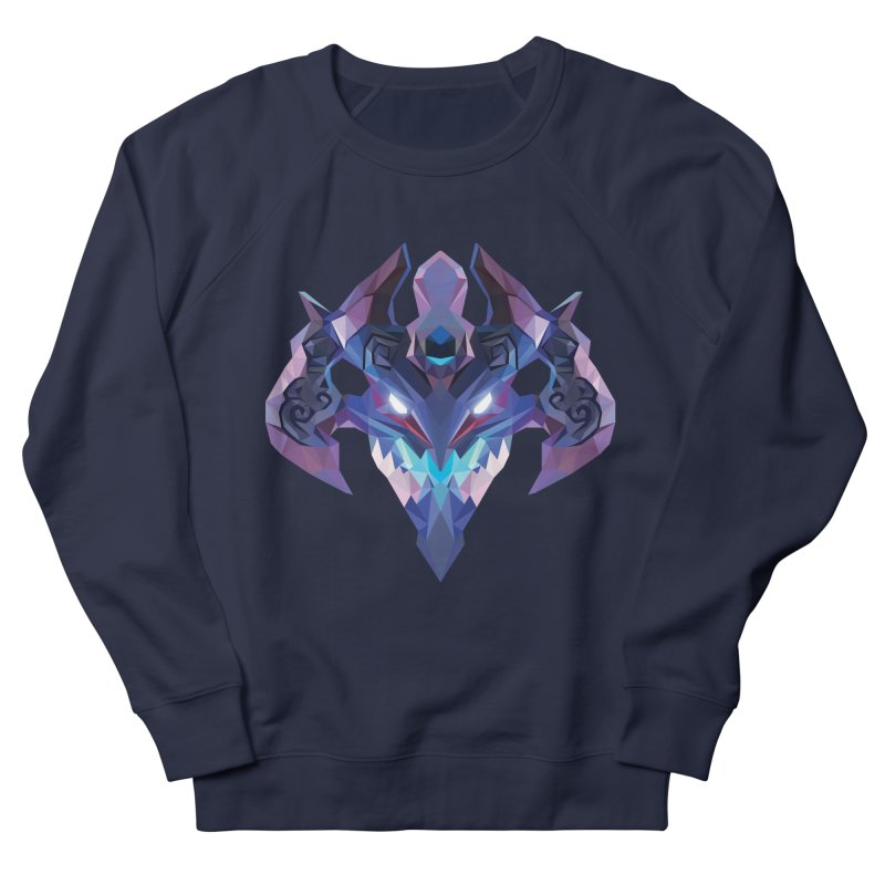 Low Poly Art - Visage Women's French Terry Sweatshirt by lowpolyart's Artist Shop