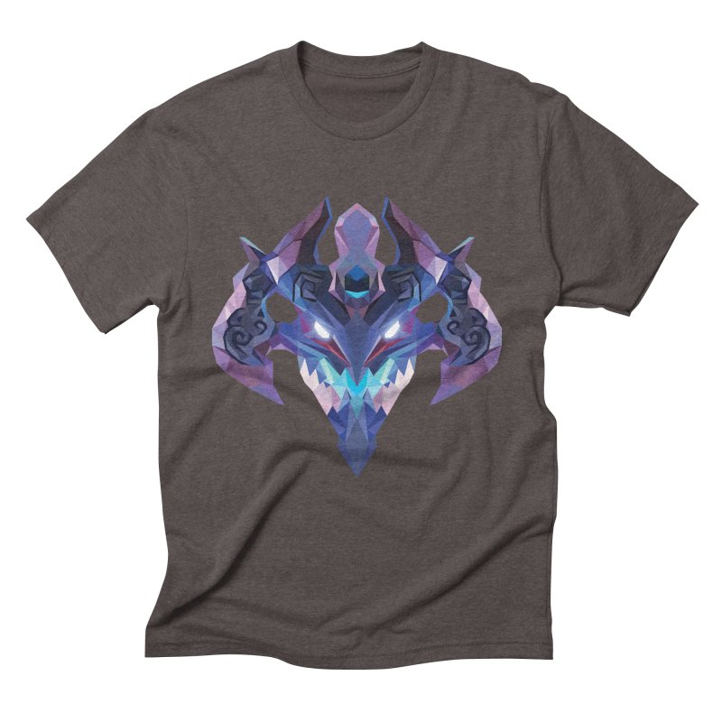 Low Poly Art - Visage Men's Triblend T-Shirt by lowpolyart's Artist Shop
