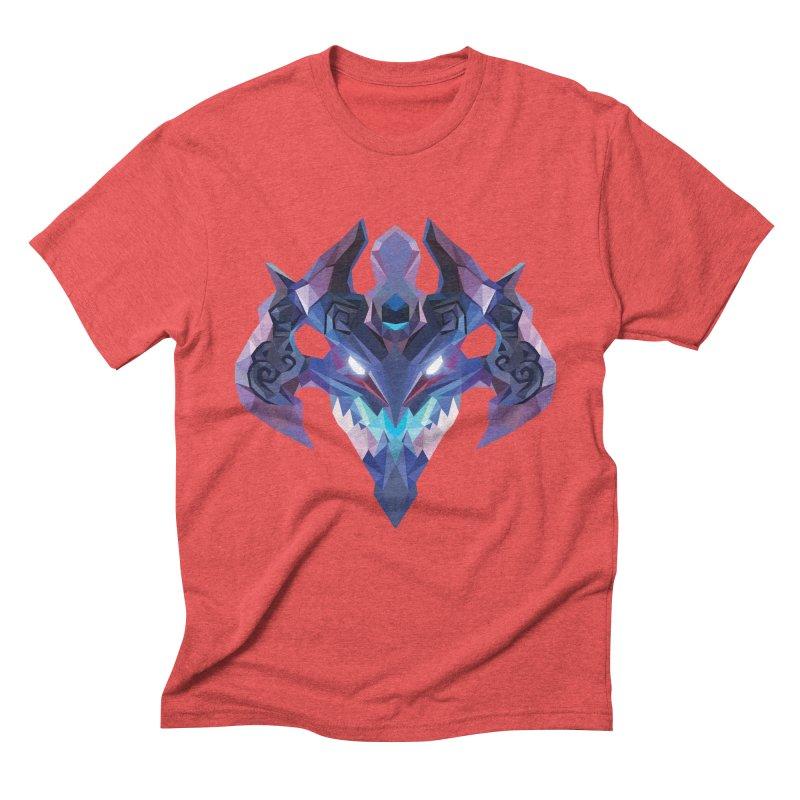 Low Poly Art - Visage Men's Triblend T-Shirt by lowpolyart's Artist Shop