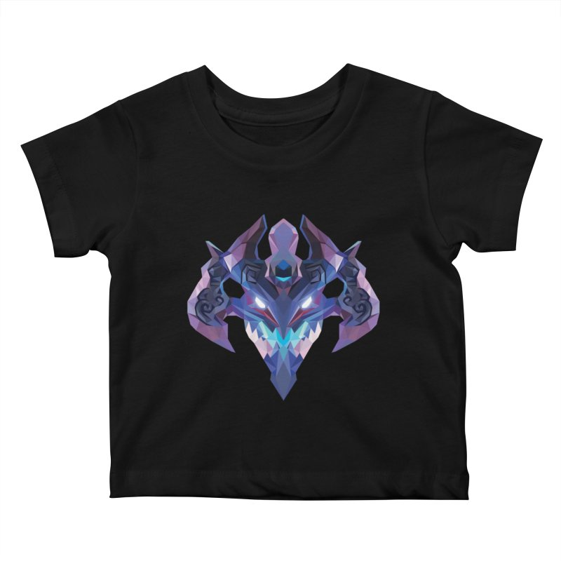 Low Poly Art - Visage Kids Baby T-Shirt by lowpolyart's Artist Shop