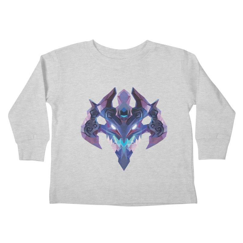 Low Poly Art - Visage Kids Toddler Longsleeve T-Shirt by lowpolyart's Artist Shop