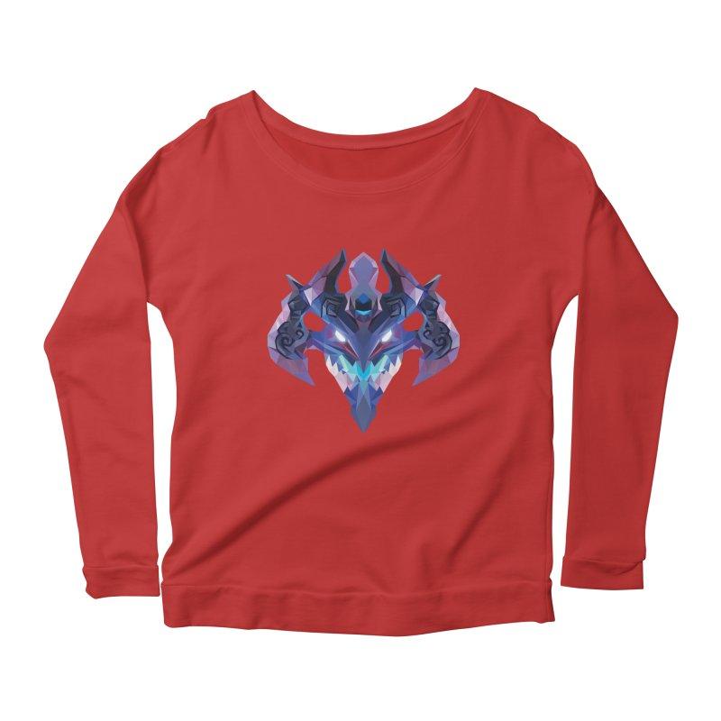 Low Poly Art - Visage Women's Scoop Neck Longsleeve T-Shirt by lowpolyart's Artist Shop