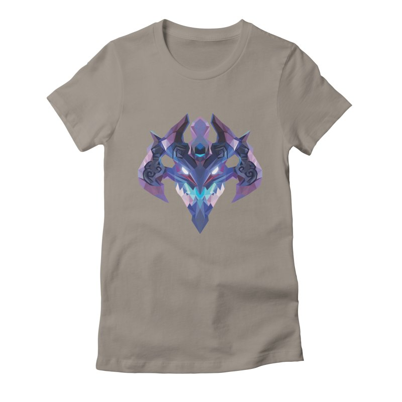 Low Poly Art - Visage Women's Fitted T-Shirt by lowpolyart's Artist Shop