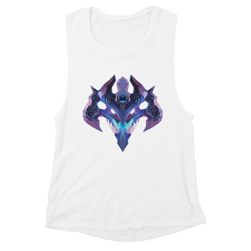 Low Poly Art - Visage Women's Muscle Tank by lowpolyart's Artist Shop