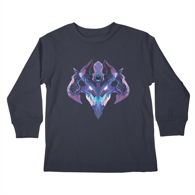 Low Poly Art - Visage Kids Longsleeve T-Shirt by lowpolyart's Artist Shop