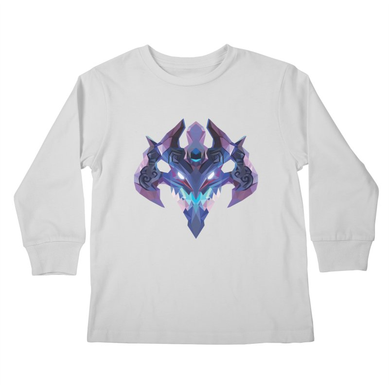 Low Poly Art - Visage Kids Longsleeve T-Shirt by lowpolyart's Artist Shop