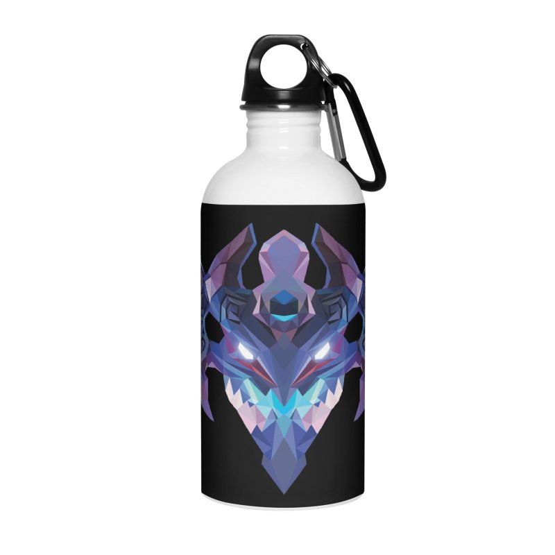 Low Poly Art - Visage Accessories Water Bottle by lowpolyart's Artist Shop