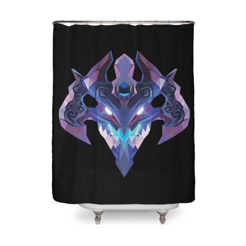 Low Poly Art - Visage Home Shower Curtain by lowpolyart's Artist Shop