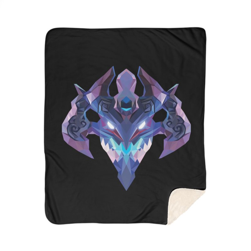 Low Poly Art - Visage Home Blanket by lowpolyart's Artist Shop