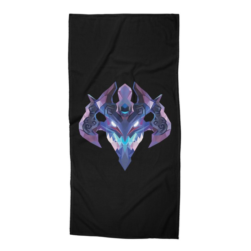 Low Poly Art - Visage Accessories Beach Towel by lowpolyart's Artist Shop