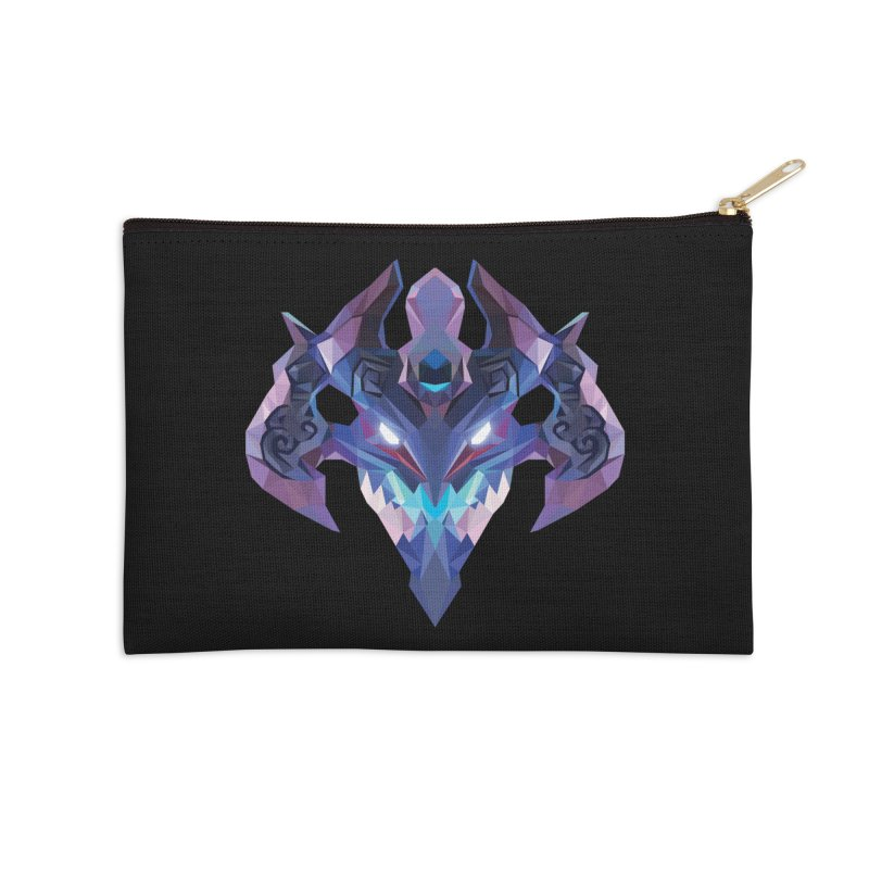 Low Poly Art - Visage Accessories Zip Pouch by lowpolyart's Artist Shop