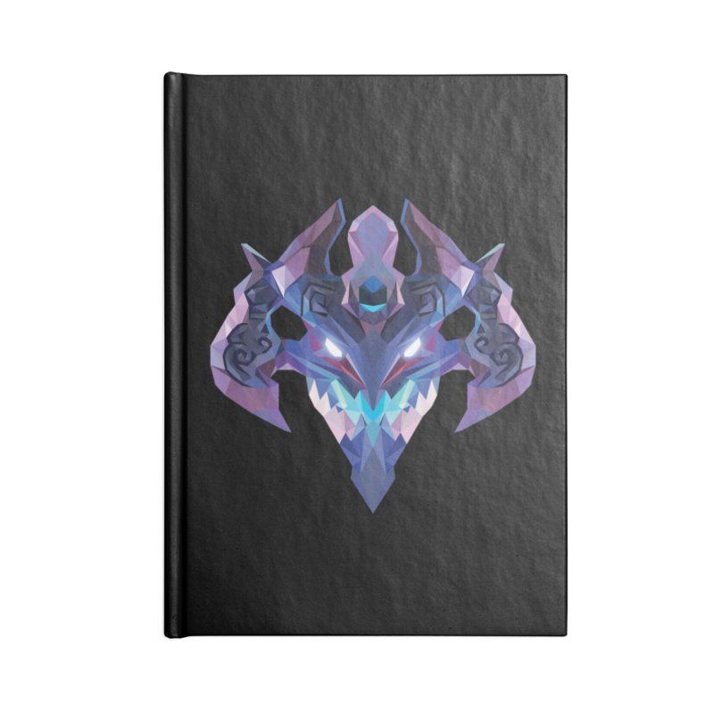 Low Poly Art - Visage Accessories Blank Journal Notebook by lowpolyart's Artist Shop