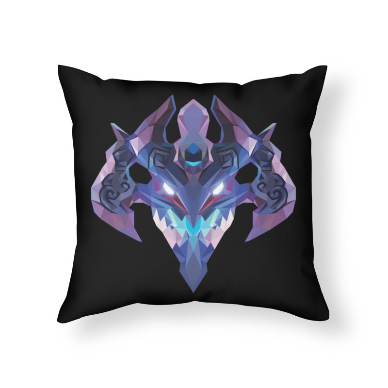Low Poly Art - Visage Home Throw Pillow by lowpolyart's Artist Shop