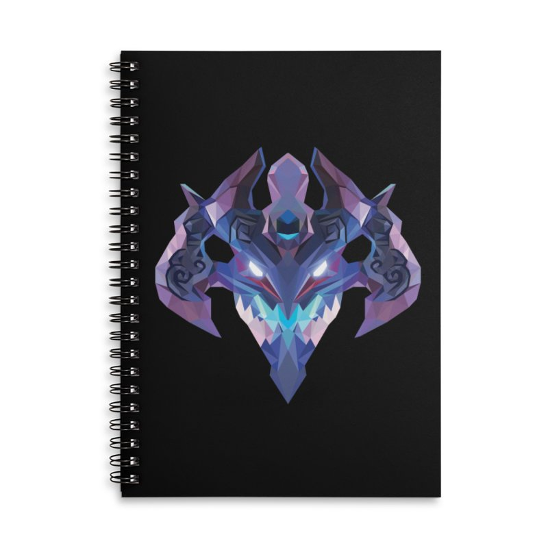 Low Poly Art - Visage Accessories Lined Spiral Notebook by lowpolyart's Artist Shop