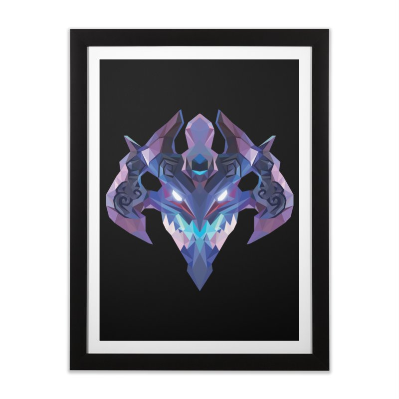 Low Poly Art - Visage Home Framed Fine Art Print by lowpolyart's Artist Shop