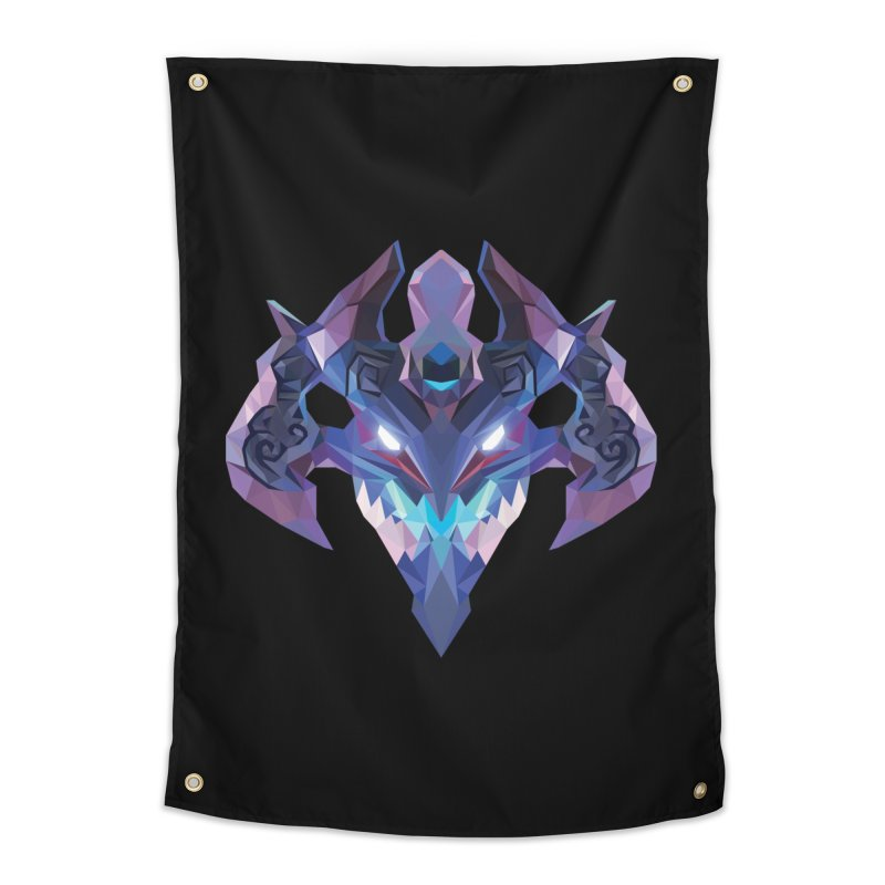 Low Poly Art - Visage Home Tapestry by lowpolyart's Artist Shop