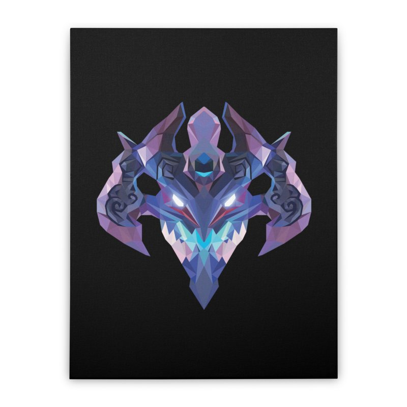 Low Poly Art - Visage Home Stretched Canvas by lowpolyart's Artist Shop