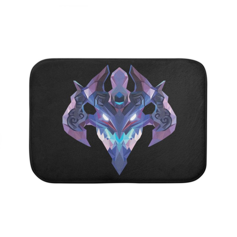 Low Poly Art - Visage Home Bath Mat by lowpolyart's Artist Shop