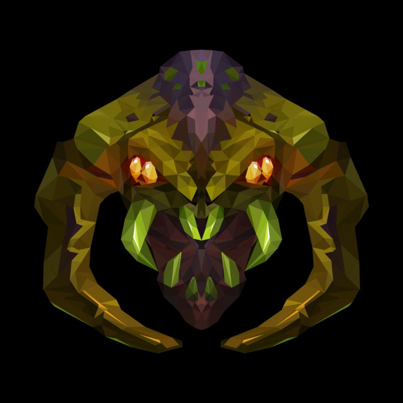 Low Poly Art - Venomancer Home Fine Art Print by lowpolyart's Artist Shop
