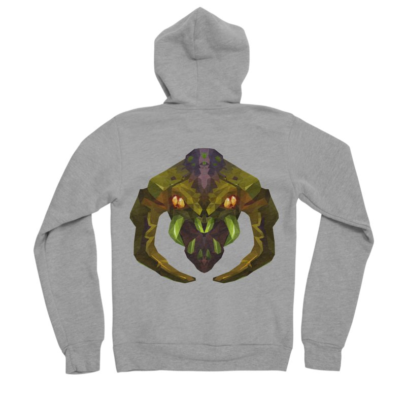 Low Poly Art - Venomancer Men's Sponge Fleece Zip-Up Hoody by lowpolyart's Artist Shop