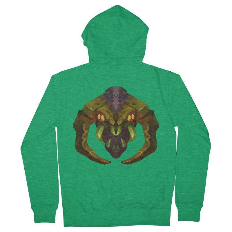 Low Poly Art - Venomancer Men's Zip-Up Hoody by lowpolyart's Artist Shop