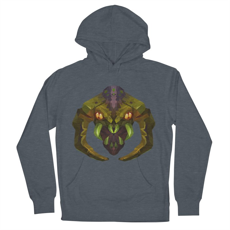 Low Poly Art - Venomancer Men's French Terry Pullover Hoody by lowpolyart's Artist Shop