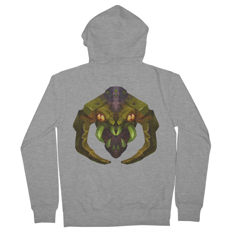 Low Poly Art - Venomancer Women's French Terry Zip-Up Hoody by lowpolyart's Artist Shop