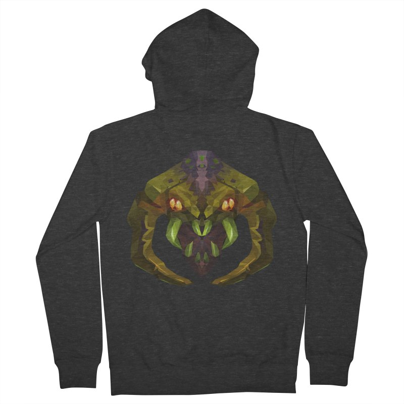 Low Poly Art - Venomancer Men's French Terry Zip-Up Hoody by lowpolyart's Artist Shop