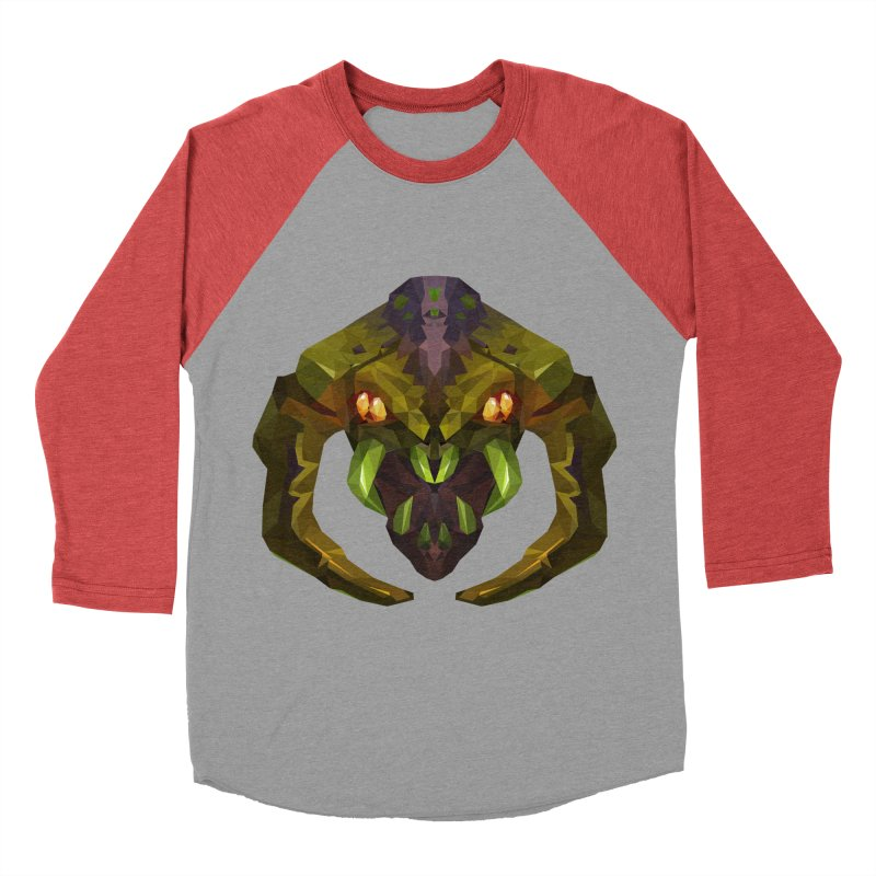 Low Poly Art - Venomancer Women's Baseball Triblend Longsleeve T-Shirt by lowpolyart's Artist Shop