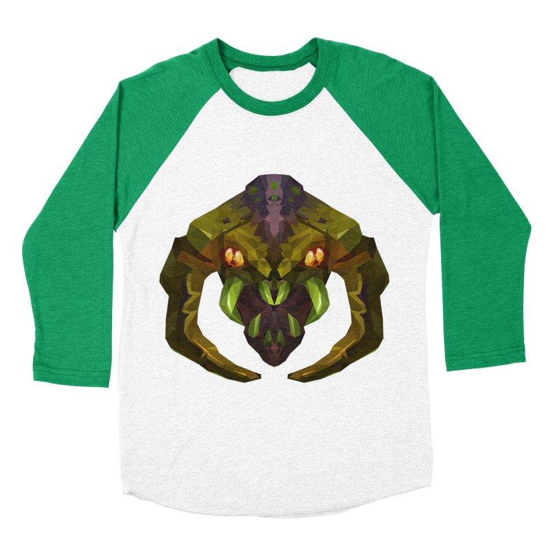 Low Poly Art - Venomancer Men's Baseball Triblend Longsleeve T-Shirt by lowpolyart's Artist Shop