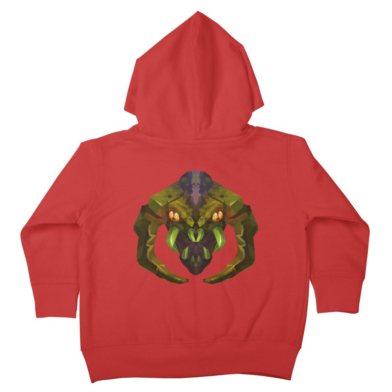 Low Poly Art - Venomancer Kids Toddler Zip-Up Hoody by lowpolyart's Artist Shop