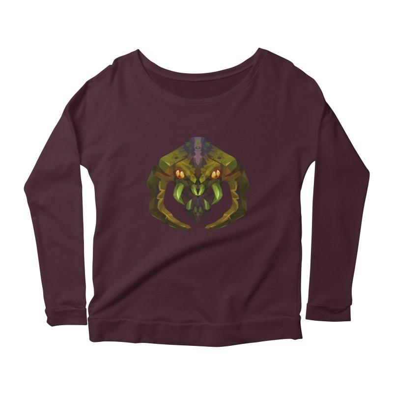 Low Poly Art - Venomancer Women's Longsleeve T-Shirt by lowpolyart's Artist Shop