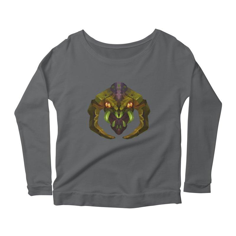 Low Poly Art - Venomancer Women's Scoop Neck Longsleeve T-Shirt by lowpolyart's Artist Shop