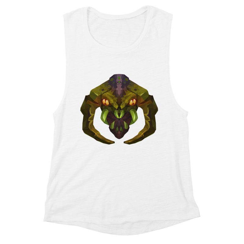 Low Poly Art - Venomancer Women's Muscle Tank by lowpolyart's Artist Shop