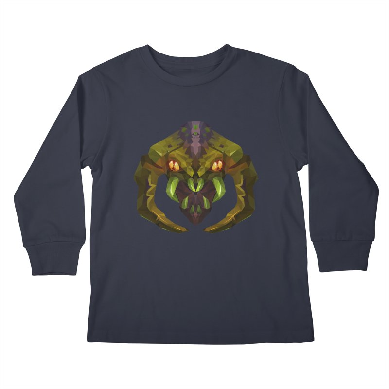 Low Poly Art - Venomancer Kids Longsleeve T-Shirt by lowpolyart's Artist Shop