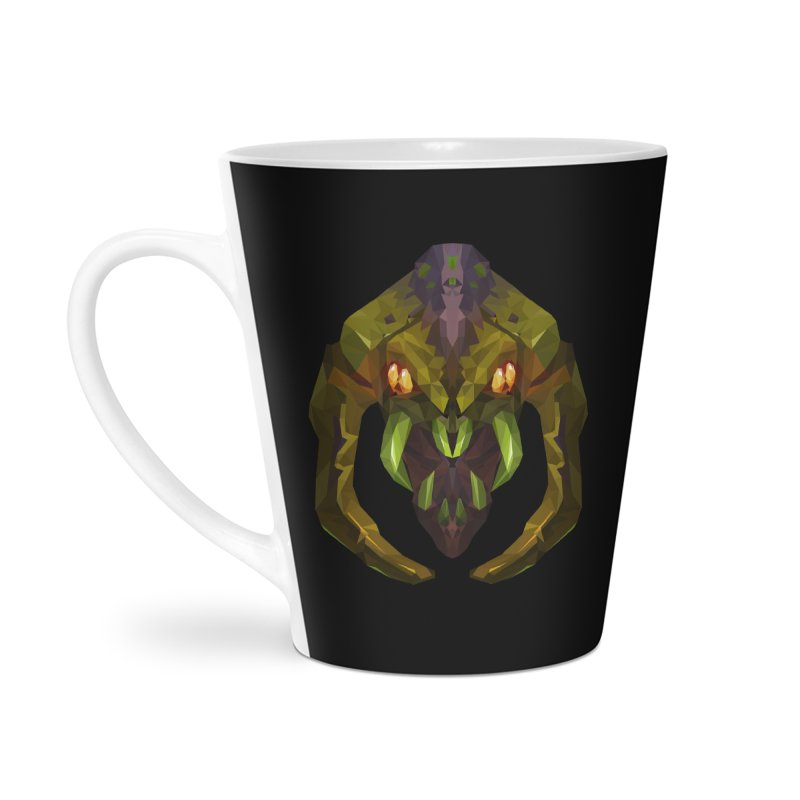 Low Poly Art - Venomancer Accessories Latte Mug by lowpolyart's Artist Shop