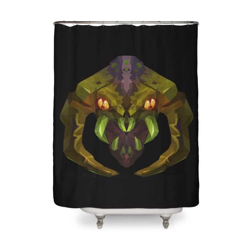 Low Poly Art - Venomancer Home Shower Curtain by lowpolyart's Artist Shop