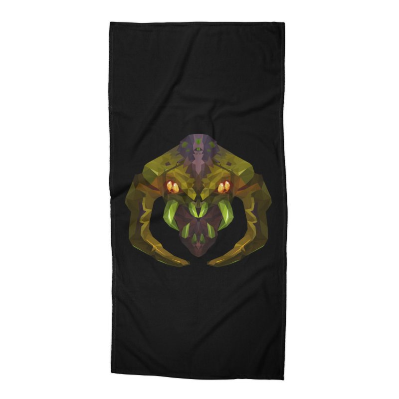 Low Poly Art - Venomancer Accessories Beach Towel by lowpolyart's Artist Shop