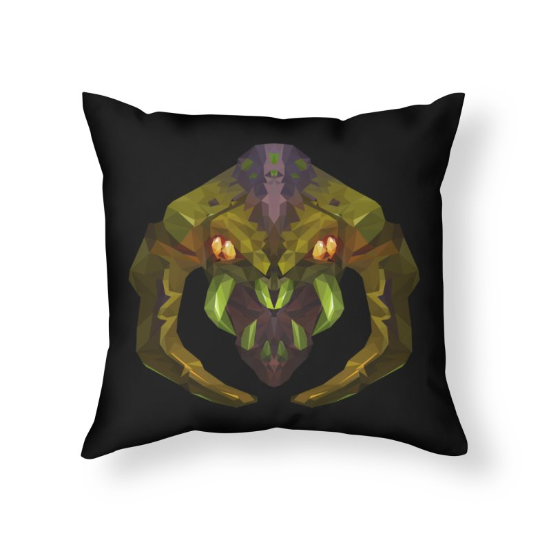 Low Poly Art - Venomancer Home Throw Pillow by lowpolyart's Artist Shop