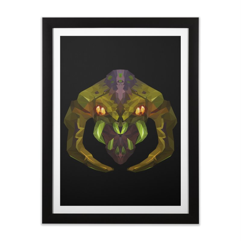 Low Poly Art - Venomancer Home Framed Fine Art Print by lowpolyart's Artist Shop