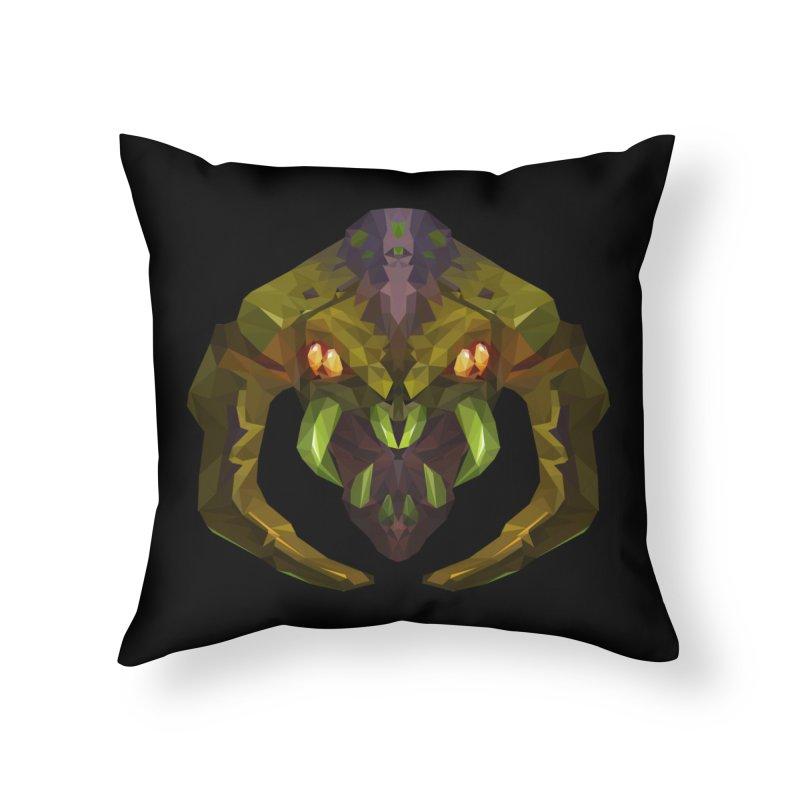 Low Poly Art - Venomancer Home Throw Pillow by lowpolyart's Artist Shop